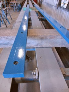 Replaceable chain guides with countersunk bolts