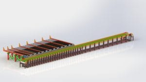 Single deck and single trough isoview image.