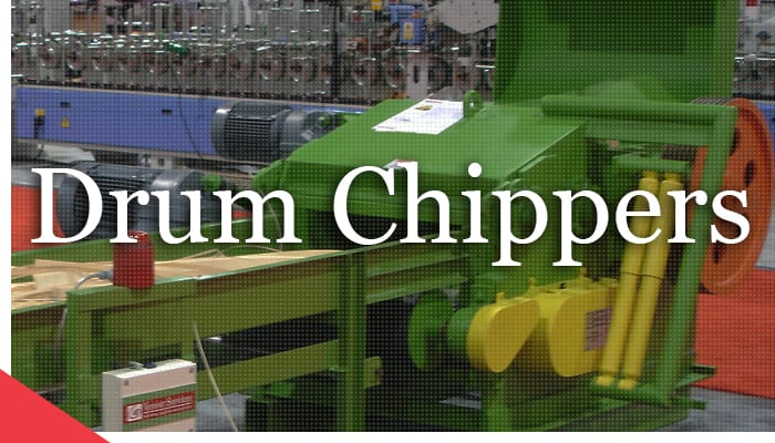 drum chippers from Veneer Services. grinders. mulchers.