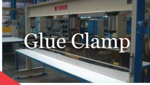 Manual veneer glue clamp from Veneer Services