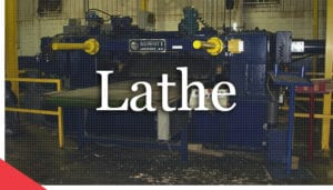 Remanufactured veneer lathe from Veneer Services
