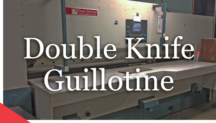 OMPEC double knife guillotine from Veneer Services. veneer cutter. veneer cutting machine. veneer machine.