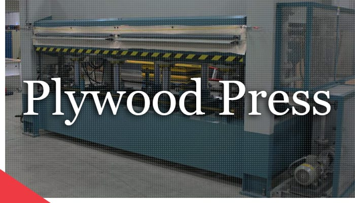 Remanufactured plywood press from Veneer Services