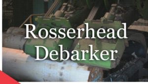 Rosser head debarker from Veneer Services