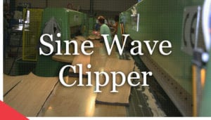 sine wave veneer clipper from Veneer Services. veneer cutting machine. veneer technologies.