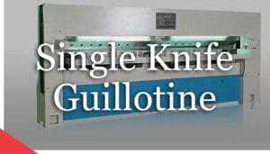 Single knife veneer guillotine from Veneer Services