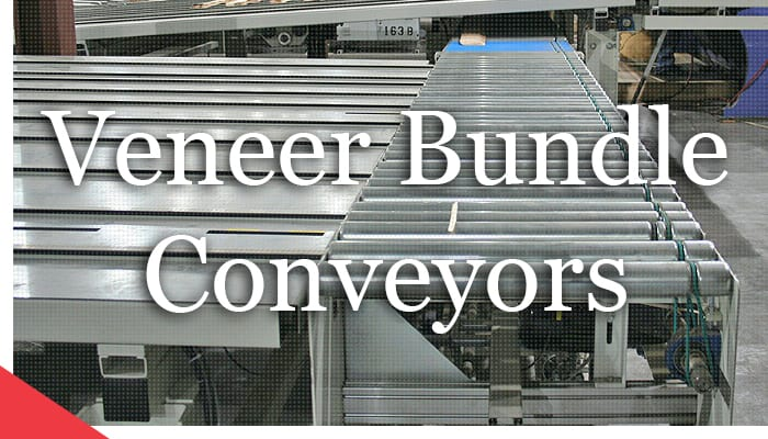 Veneer Bundle Conveyors from Veneer Services. Industrial automation.