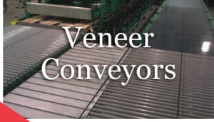 Veneer conveyors from Veneer Services. Veneer technology.