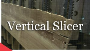 Remanufactured vertical slicer from Veneer Services. veneer slicer. veneer peeling. log peeling machine.