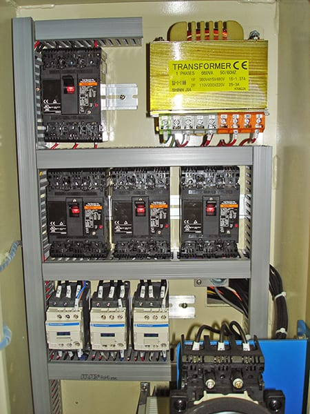 Electrical Cabinet for Veneer Splicing Machine