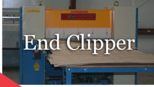 veneer end clipper header from Veneer Services. Veneer cutting machine.
